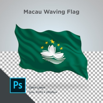 Drapeau de macao wave design transparent
