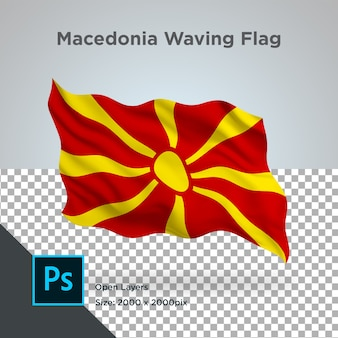 Drapeau macédoine wave design transparent