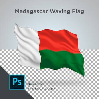 Drapeau de madagascar wave design transparent