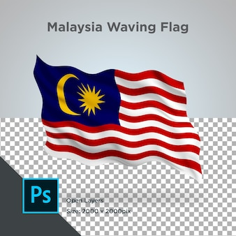 Drapeau de la malaisie wave design transparent