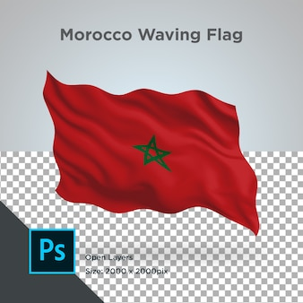 Drapeau maroc wave design transparent