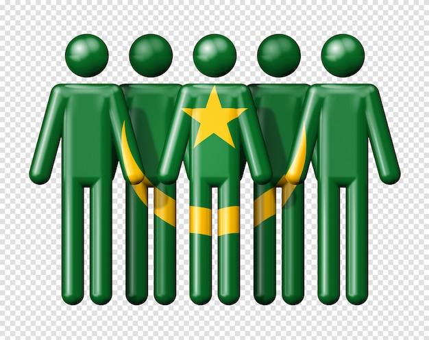 Drapeau de la mauritanie sur stick figure