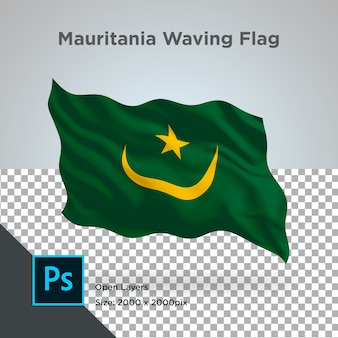 Drapeau de la mauritanie wave design transparent