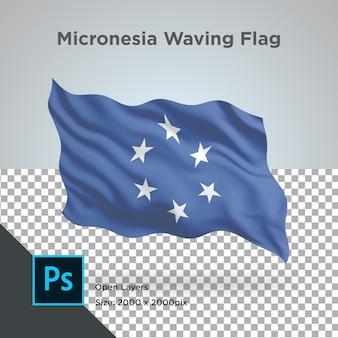 Drapeau de la micronésie wave design transparent
