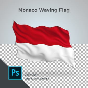 Drapeau monaco wave design transparent