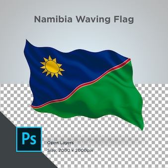Drapeau de la namibie wave design transparent