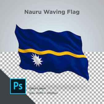 Drapeau nauru wave design transparent