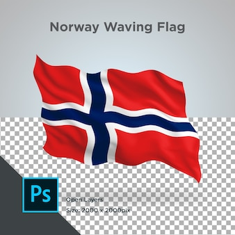 Drapeau de la norvège wave design transparent