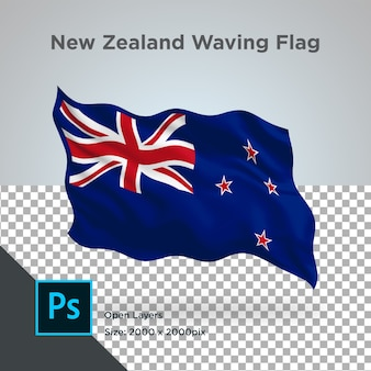 Drapeau nouvelle-zélande wave design transparent