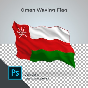 Drapeau oman wave design transparent
