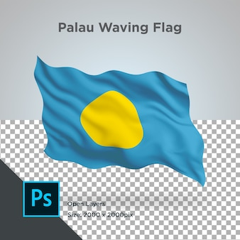 Drapeau des palaos wave design transparent
