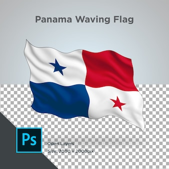 Drapeau panama wave design transparent
