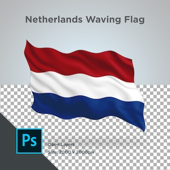 Drapeau des pays-bas wave design transparent