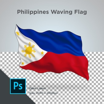 Drapeau des philippines wave design transparent