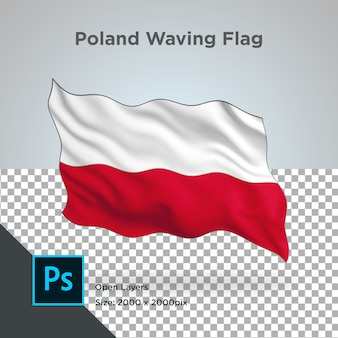 Drapeau de la pologne wave design transparent