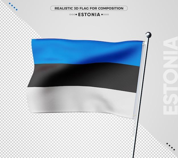 Drapeau texturé 3d de l'estonie pour la composition