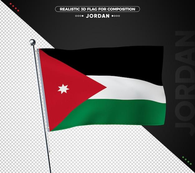 Drapeau texturé 3d de jordanie pour la composition