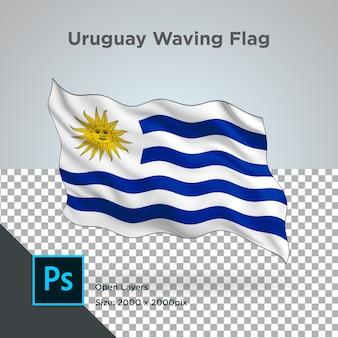 Drapeau de l'uruguay wave design transparent