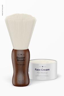Duster brush professional avec maquette de crème