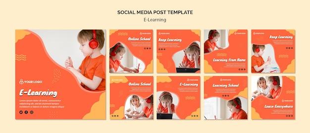 E apprentissage post sur les médias sociaux