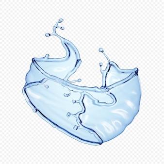 Éclaboussure d'eau transparente isolée