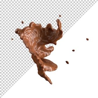 Éclaboussure de lait au chocolat 3d réaliste