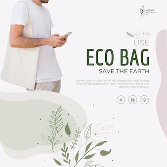 Eco sac recycler pour l'environnement sauver la terre