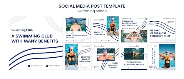 École de natation instagram posts