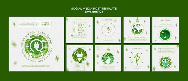 Économisez de l'énergie sur les publications sur les réseaux sociaux