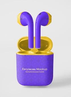 Écouteurs avec maquette d'emballage