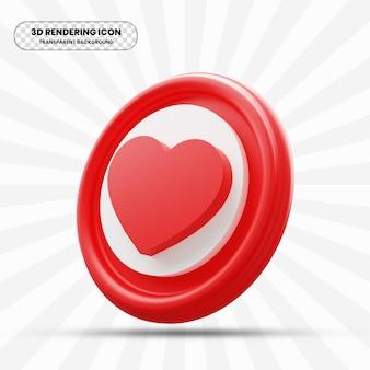 Écoutez l'icône d'amour dans le rendu 3d