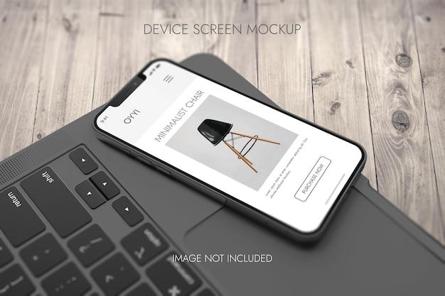 Écran du téléphone - maquette de l'appareil