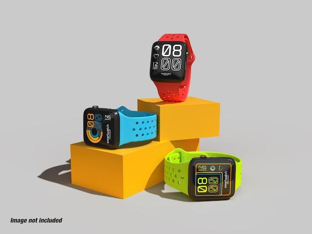 Écran de montre intelligente pour la maquette ui ux