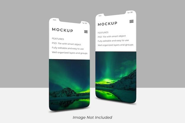 Écran de smartphone pour la maquette de présentation de l'application ui ux