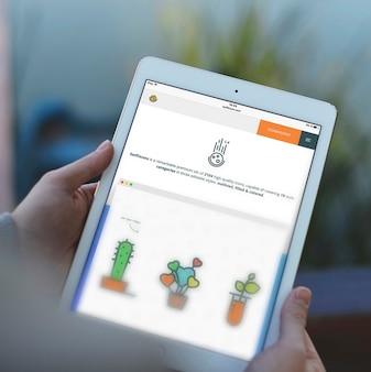 Écran de tablet maquette conception