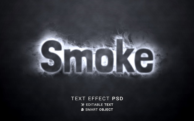 Écriture d'effet de texte de fumée