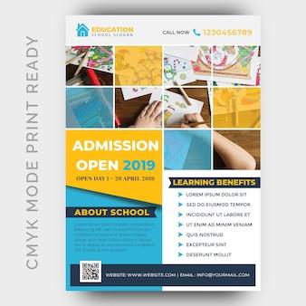 Education, modèle de conception flyer retour à l'école