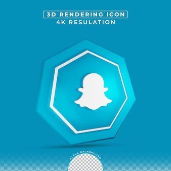 Effet de bouton 3d icône snapchat