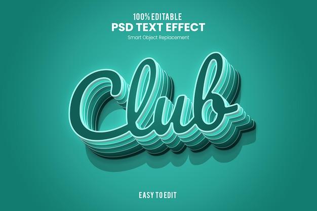 Effet clubtexte