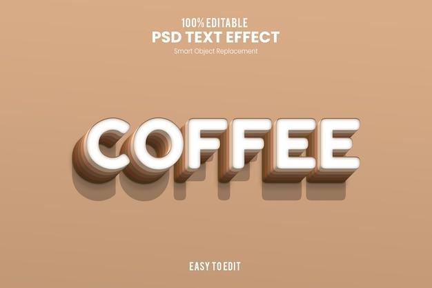 Effet coffeetext