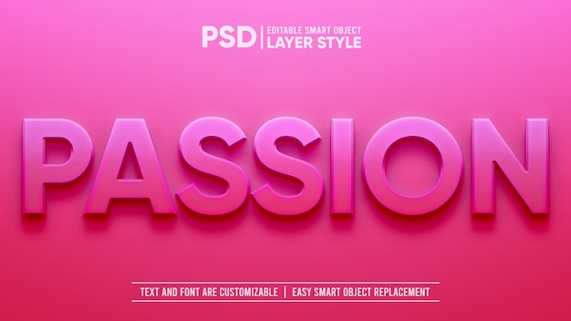 Effet de couche d'objet intelligent pink lovely passion romance