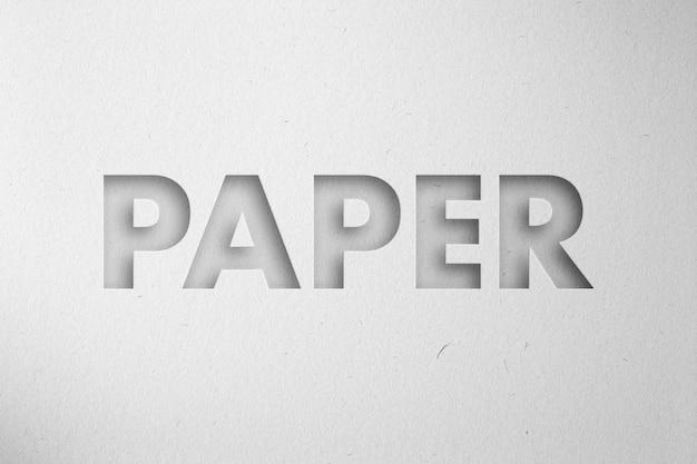 Effet de découpe papercraft