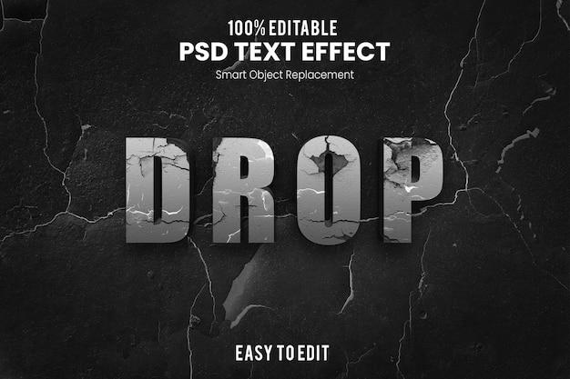 Effet droptext