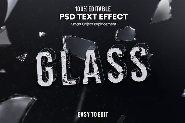 Effet glasstext