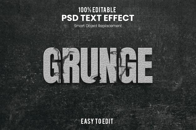 Effet grungetext