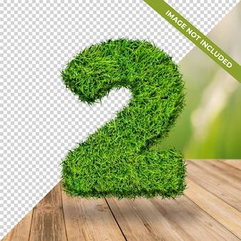Effet d'herbe 3d numéro 2 avec fond isolé