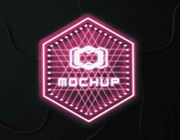 Effet de logo futuriste projeté