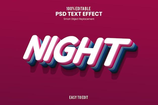 Effet nighttext