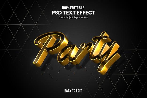 Effet partytext