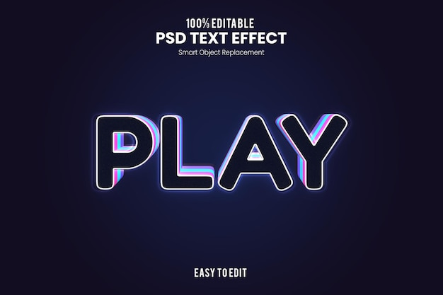 Effet playtext